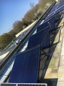 Barrilla Solar evacuated tube water heating system, Newberry Berkshire