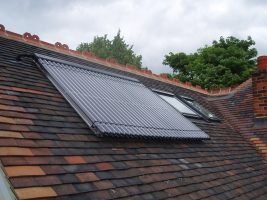 Thermomax 30 tube solar water heating system, St Albans