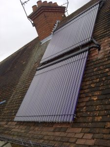 Thermomax 60 tube solar water heating system, St Albans