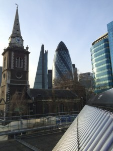 Thermomax solar evacuated tubes fitted on Aldgate TFL tube station in central London
