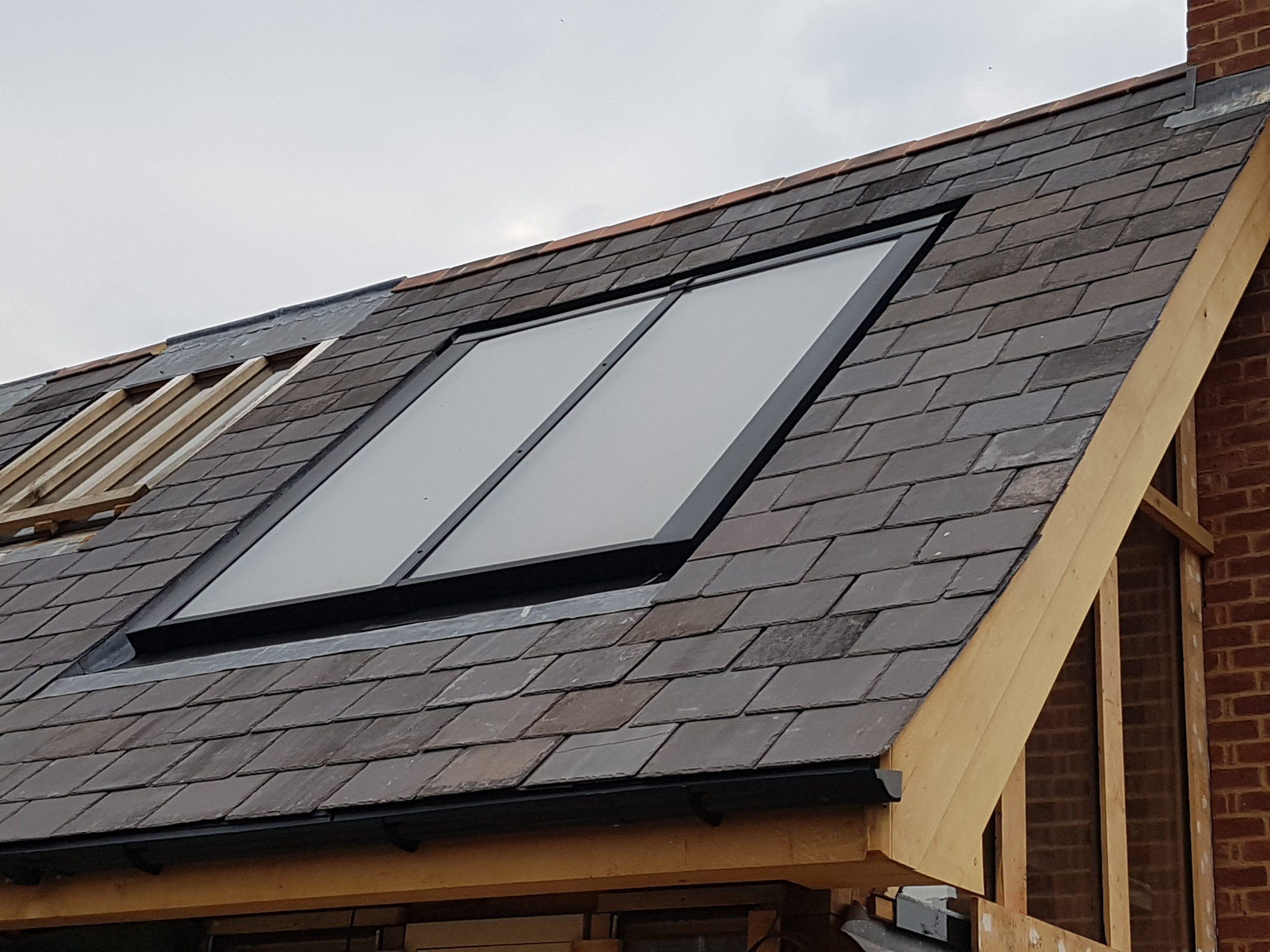 Viessmann flat panels in roof